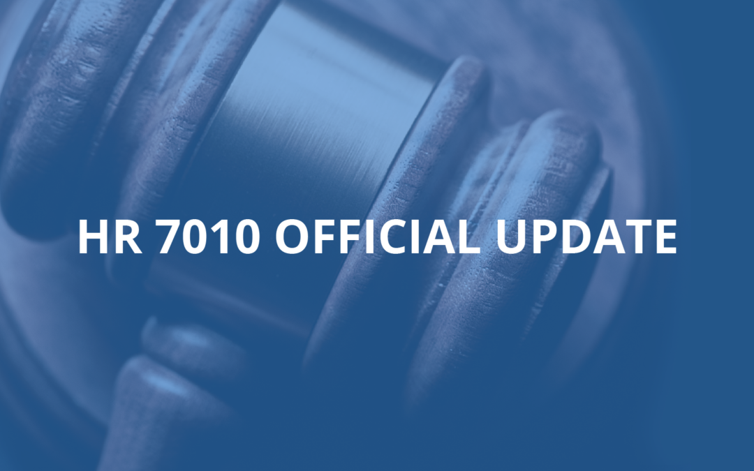 HR 7010 has been signed – here are the highlights.